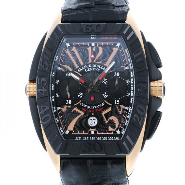 【全品 ポイント10倍 4/9~4/16】フランク・ミュラー FRANCK MULLER コンキスタドール グランプリ クロノグラフ 8900CCGP ブラック文字盤 メンズ 腕時計 【中古】