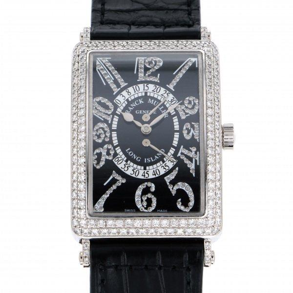 フランク・ミュラー FRANCK MULLER ロングアイランド ビーレトログラード セコンド ダイヤモンドリミテッド 世界限定20本 1100DSR D CD ブラック文字盤 メンズ 腕時計 【中古】
