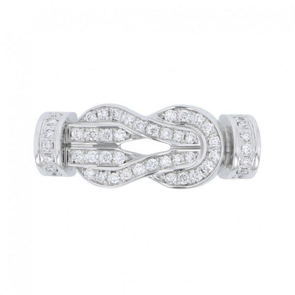フレッド FRED バックル エイトデグリーゼロ(MM) フルダイヤモンド K18WG バックル 0B0112 メンズ ジュエリー 【新品】
