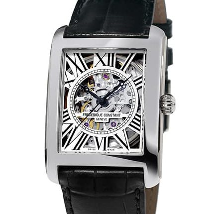 フレデリック・コンスタント FREDERIQUE CONSTANT クラシック・カレ オートマチック スケルトン FC-310SKT4S36 シルバー文字盤 メンズ 腕時計 【新品】