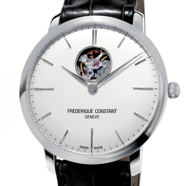 フレデリック・コンスタント FREDERIQUE メンズ スリムライン ハートビート シルバー文字盤 CONSTANT FC-312S4S6 オートマチック 腕時計 【新品】