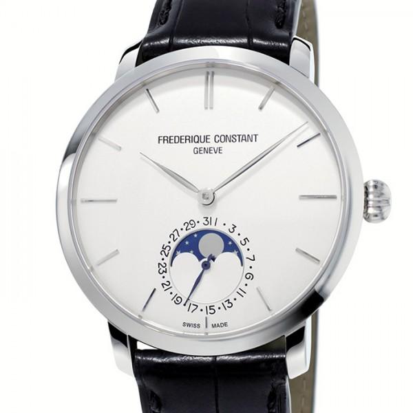 フレデリック・コンスタント FREDERIQUE CONSTANT スリムライン ムーンフェイズ マニュファクチュール FC-705S4S6 シルバー文字盤 メンズ 腕時計 【新品】