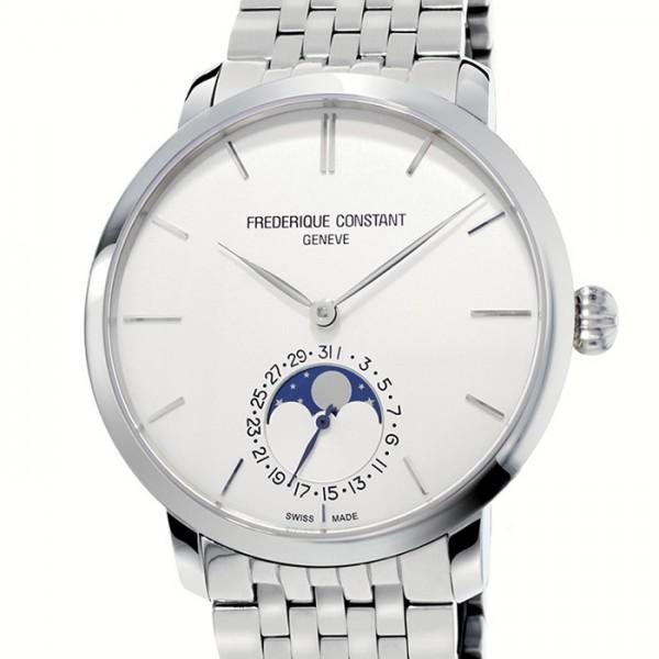 フレデリック・コンスタント FREDERIQUE CONSTANT スリムライン ムーンフェイズ マニュファクチュール FC-705S4S6B シルバー文字盤 メンズ 腕時計 【新品】