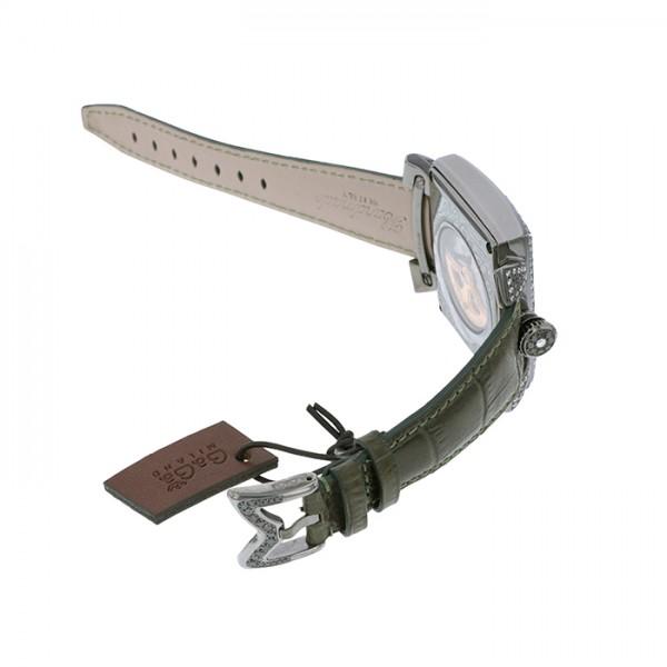 ガガミラノ GAGA MILANO ナポレオーネ ダイヤモンド 6000.3D シルバー文字盤 メンズ 腕時計 【新品】