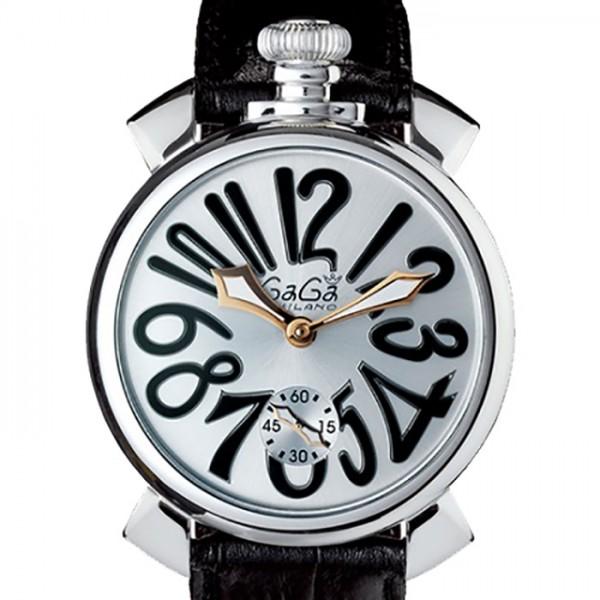 ガガミラノ GaGa MILANO マヌアーレ 48mm 5010.7S シルバー文字盤 新品 腕時計 メンズ:ジェムキャッスルゆきざき