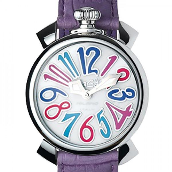 ガガミラノ GAGA MILANO マヌアーレ 40mm 5020.7 ホワイトシェル文字盤 レディース 腕時計 【新品】