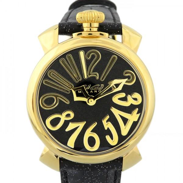 ガガミラノ GAGA MILANO マヌアーレ 40mm スターダスト 5223.01 ブラック文字盤 レディース 腕時計 【新品】