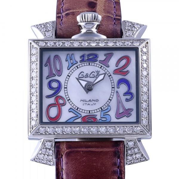 ガガミラノ GAGA MILANO ナポレオーネ 6030.7 ホワイト文字盤 レディース 腕時計 【新古品】