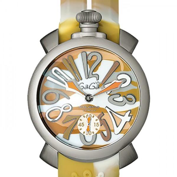 ガガミラノ GAGA MILANO マヌアーレ カモフラージュ 48mm 5010.17S ベージュカモフラージュ文字盤 メンズ 腕時計 【新品】