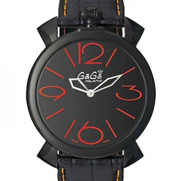 ガガミラノ GAGA MILANO マヌアーレ シン 46mm 5092.01 ブラック文字盤 メンズ 腕時計 【新品】