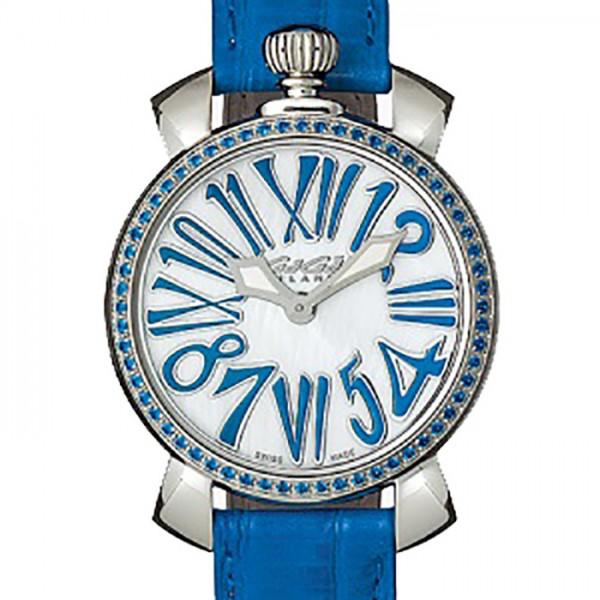 ガガミラノ GAGA MILANO マヌアーレ 35mm ストーン 6025.04 ホワイト文字盤 レディース 腕時計 【新品】
