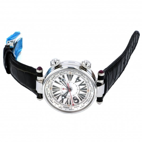 ジオ・モナコ GIO MONACO ジオポリス 379A シルバー文字盤 メンズ 腕時計 【新品】