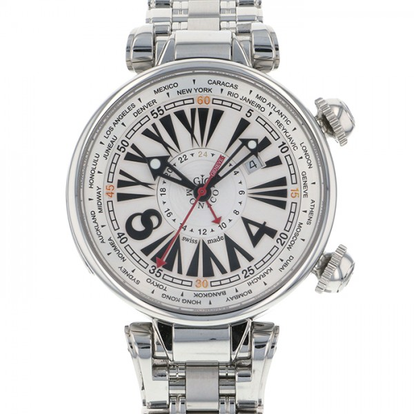 ジオ・モナコ GIO MONACO ジオポリス 379S ホワイト文字盤 メンズ 腕時計 【新品】