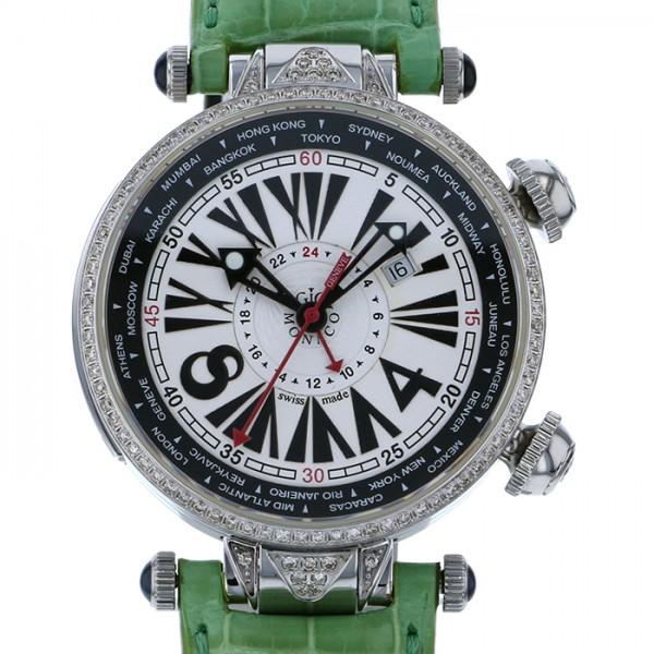 【全品 ポイント10倍 16日1:59まで 要エントリー】ジオ・モナコ GIO MONACO ジオポリス 383A ホワイト文字盤 メンズ 腕時計 【新品】