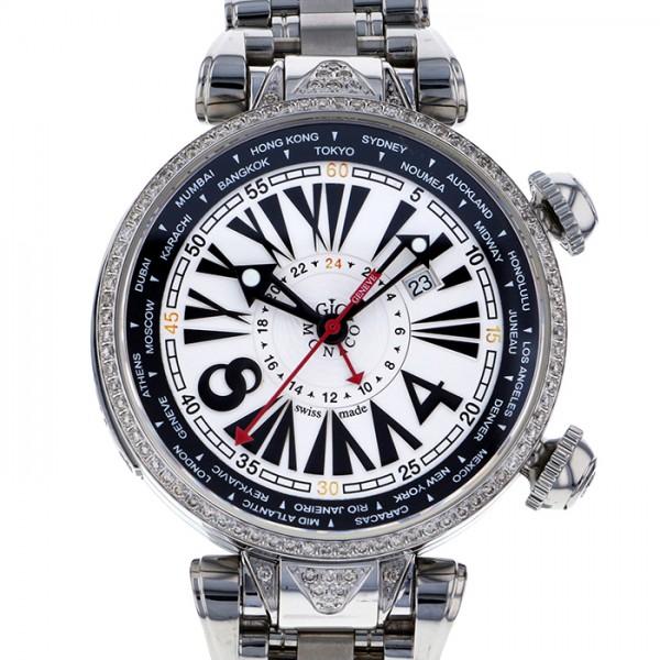 ジオ・モナコ GIO MONACO ジオポリス 383S ホワイト文字盤 メンズ 腕時計 【新品】