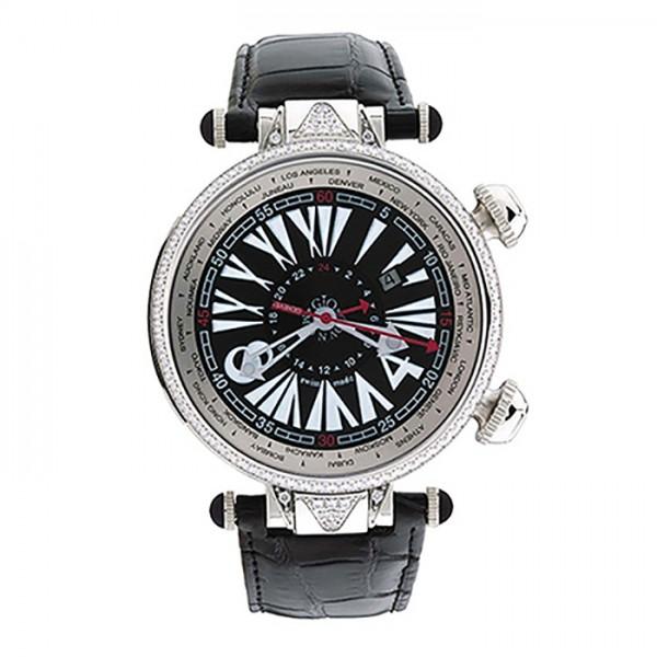 ジオ・モナコ GIO MONACO ジオポリス 384A ブラック文字盤 メンズ 腕時計 【新品】