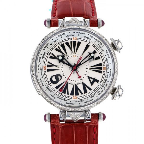 ジオ・モナコ GIO MONACO ジオポリス 387A ホワイト文字盤 メンズ 腕時計 【新品】