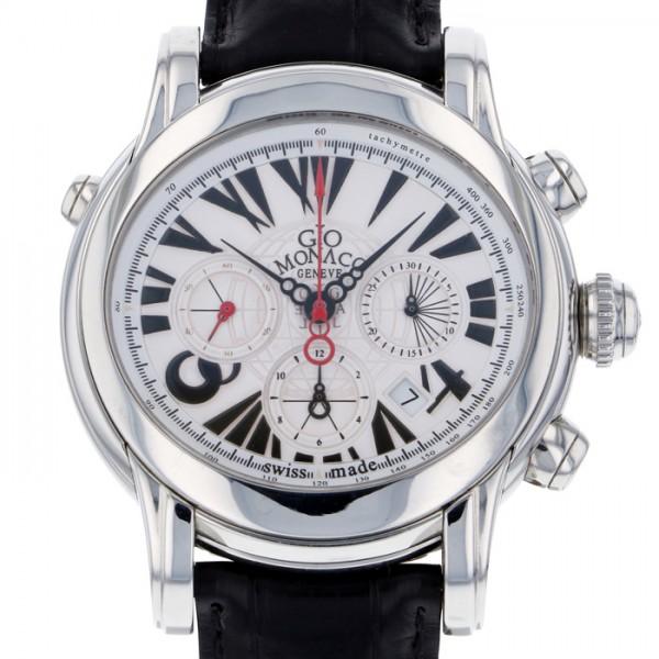 ジオ・モナコ GIO MONACO ガリレオ クロノグラフ 316A ホワイト文字盤 メンズ 腕時計 【新品】