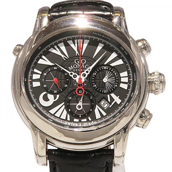 ジオ・モナコ GIO MONACO ガリレオ - ブラック文字盤 メンズ 腕時計 【中古】