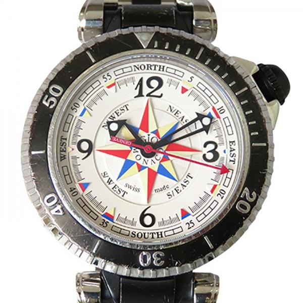 ジオ・モナコ GIO MONACO その他 ポセイドン 371S ホワイト文字盤 メンズ 腕時計 【中古】