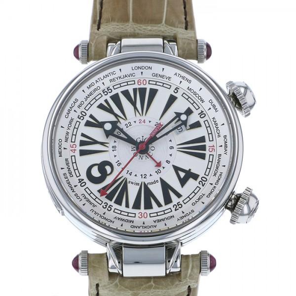 ジオ・モナコ GIO MONACO ジオポリス 379A シルバー文字盤 メンズ 腕時計 【中古】
