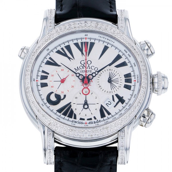 【全品 ポイント10倍 4/9~4/16】ジオ・モナコ GIO MONACO ガリレオ 324A ホワイト文字盤 メンズ 腕時計 【中古】