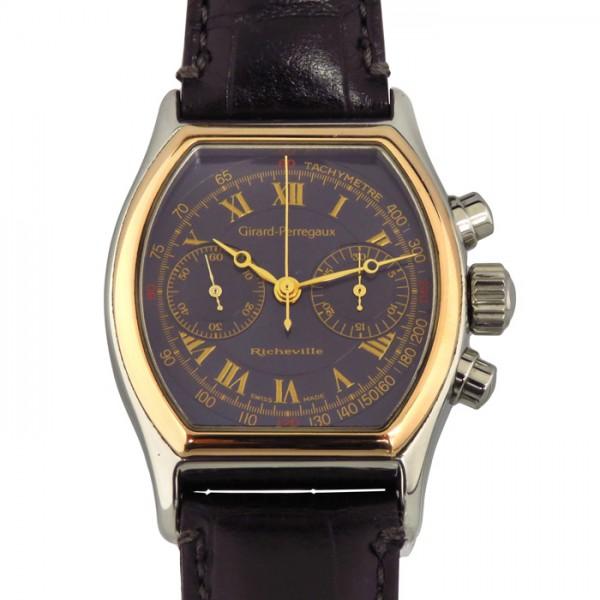 【全品 ポイント10倍 4/9~4/16】ジラール・ペルゴ GIRARD PERREGAUX その他 リシュビル クロノグラフ 2710 ネイビー文字盤 メンズ 腕時計 【中古】
