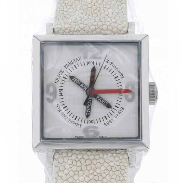超安い グレース・ファブリオ GRACE FABLIAU グレースファブリオ グレースファブリオTYPE-W/08/X-Time/WTYPE-W 51W-08XW ホワイト文字盤 新品 腕時計 メンズ, かぎろひ屋 b3db6d2d