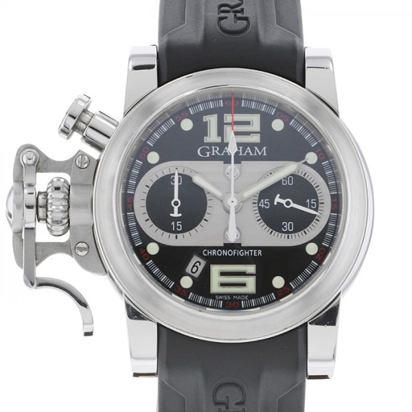 人気TOP グラハム GRAHAM クロノファイター 2CRBS ブラック文字盤  腕時計 メンズ, 湯梨浜町 5df4486d