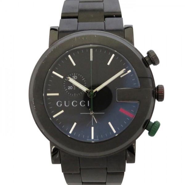 グッチ GUCCI その他 グッチ クロノグラフ PVD 101M イエロー/ブラック文字盤 メンズ 腕時計 【新古品】