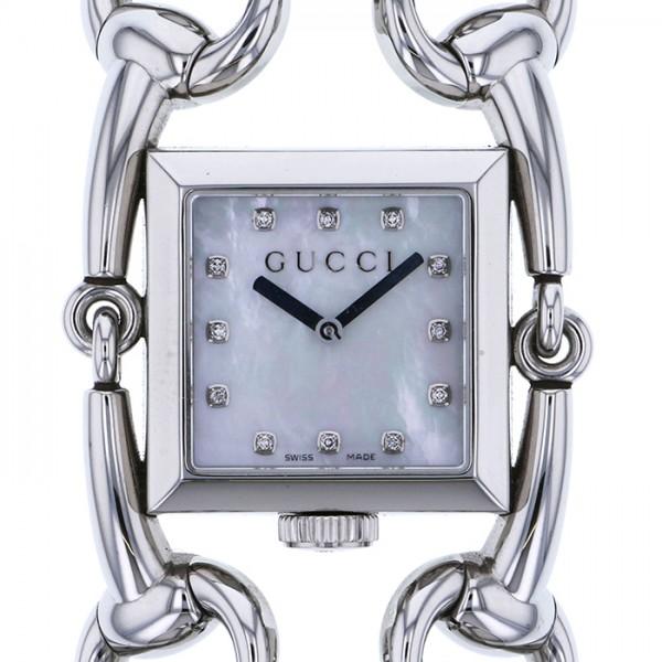 グッチ GUCCI その他 シニョリーア 116LG ホワイト文字盤 レディース 腕時計 【中古】