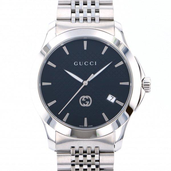 グッチ GUCCI その他 Gタイムレス YA1264106 ブラック文字盤 メンズ 腕時計 【新品】