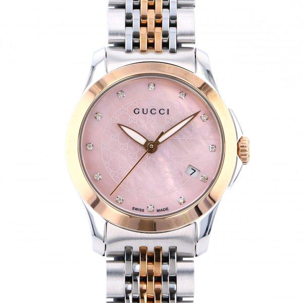 グッチ GUCCI その他 Gタイムレス YA126538 ピンク文字盤 レディース 腕時計 【新品】