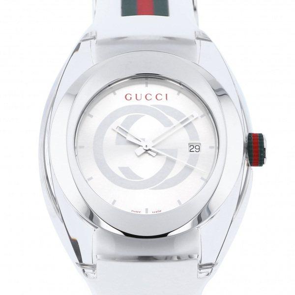【期間限定ポイント5倍 5/5~5/31】 グッチ GUCCI その他 シンク YA137102A シルバー文字盤 メンズ 腕時計 【新品】