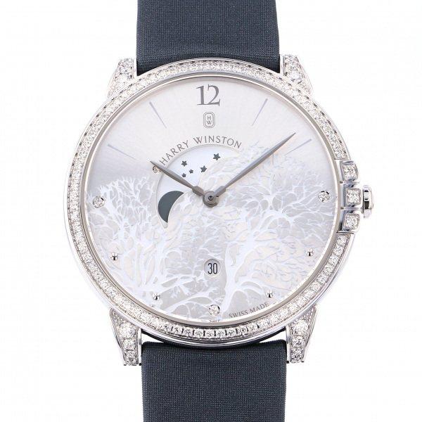 ハリー・ウィンストン HARRY WINSTON ミッドナイト ムーンフェイズ MIDQMP39WW001 シルバー文字盤 メンズ 腕時計 【中古】