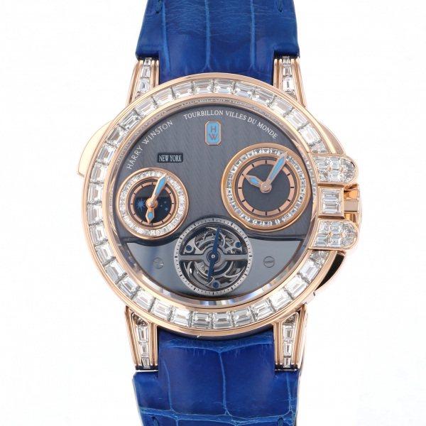 ハリー・ウィンストン HARRY WINSTON オーシャン トゥールビヨン 世界10本限定 400/MATTZ45R グレー文字盤 メンズ 腕時計 【中古】