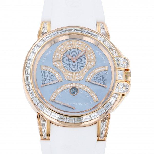 ハリー・ウィンストン HARRY WINSTON オーシャン クロノグラフ トリレトログラード 世界限定10本 400/MCRA44R ブルー文字盤 メンズ 腕時計 【中古】