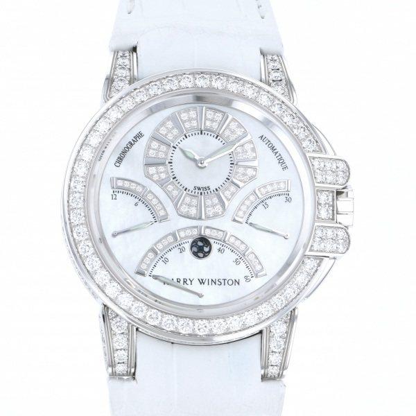 ハリー・ウィンストン HARRY WINSTON オーシャン トリレトロ クロノグラフ ダイヤモンドケース OCEACT44WW002 ホワイト文字盤 メンズ 腕時計 【新品】