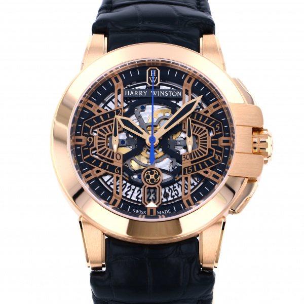 ハリー・ウィンストン HARRY WINSTON オーシャン クロノグラフ オートマティック OCEACH44RR001 ゴールド文字盤 メンズ 腕時計 【新品】