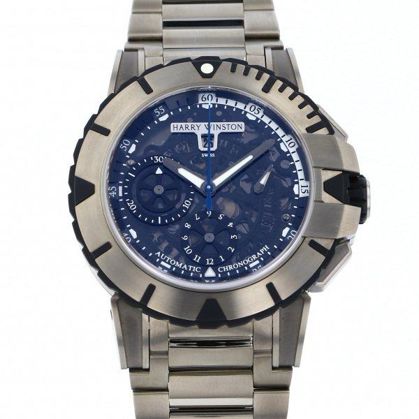 ハリー・ウィンストン HARRY WINSTON オーシャン スポーツ クロノグラフ 411/MCA44ZZ.K ブラック文字盤 メンズ 腕時計 【新品】