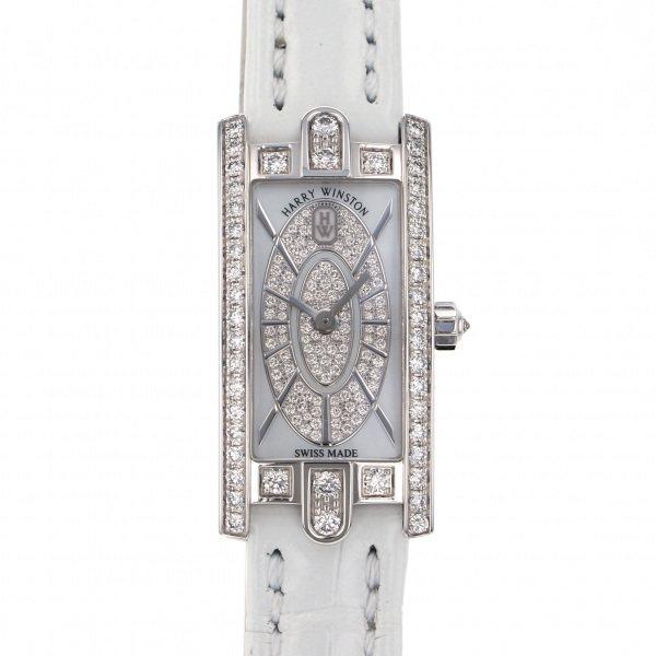 ハリー・ウィンストン HARRY WINSTON アヴェニュー C ミニ エリプティック AVCQHM16WW052 ホワイト文字盤 レディース 腕時計 【新品】