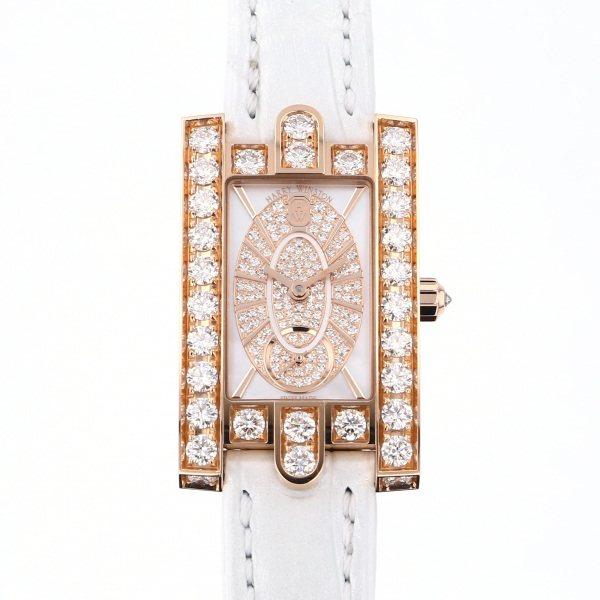 ハリー・ウィンストン HARRY WINSTON アヴェニュー エリプティック ダイヤモンド AVEQHM21RR112 ホワイト文字盤 レディース 腕時計 【新品】