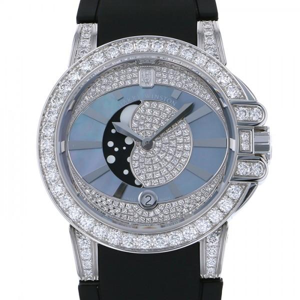 ハリー・ウィンストン HARRY WINSTON オーシャンレディムーンフェイズ OCEQMP36WW002 ダイヤモンド 文字盤 レディース 腕時計 【新品】