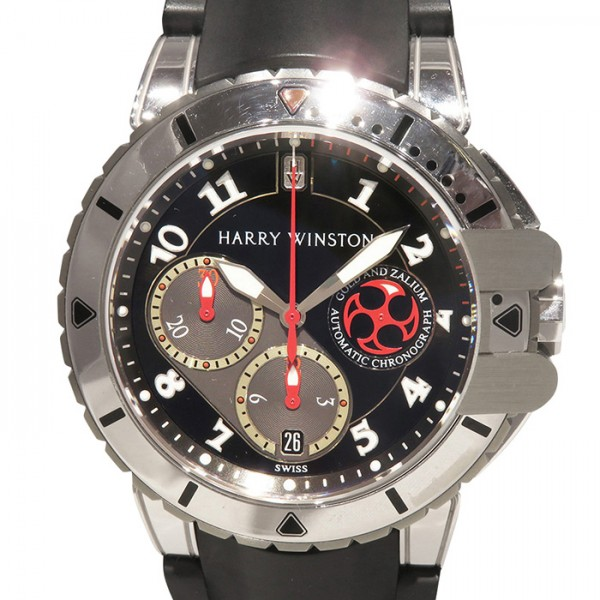 ハリー・ウィンストン HARRY WINSTON オーシャン ダイバー クロノグラフ 410/MCA44WZC.K ブラック/グレー文字盤 メンズ 腕時計 【新品】