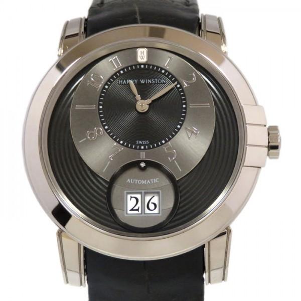 ハリー・ウィンストン HARRY WINSTON ミッドナイト ビッグデイト MIDABD42WW002 ブラック/グレー文字盤 メンズ 腕時計 【新品】