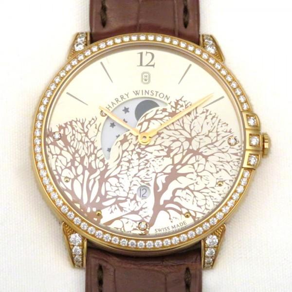 ハリー・ウィンストン HARRY WINSTON ミッドナイト ムーンフェイズ ベゼル・ラグダイヤ MIDQMP39RR001 ロゼシャンパン文字盤 メンズ 腕時計 【新品】