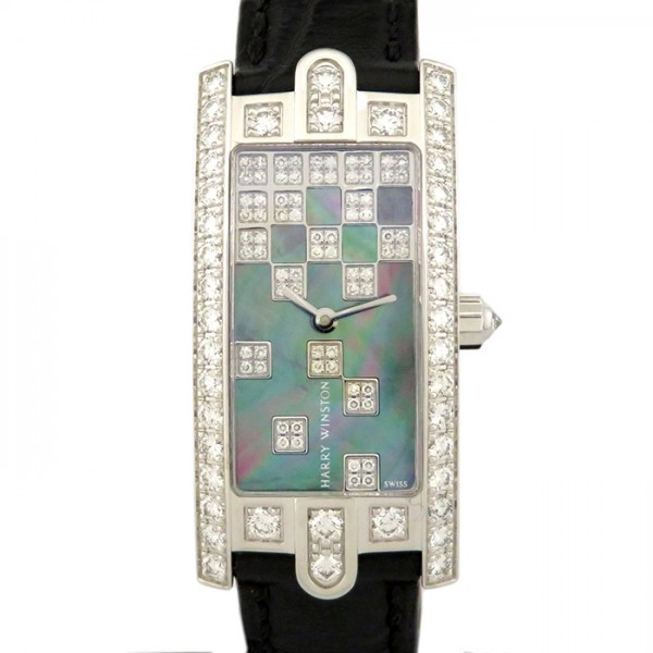 ハリー・ウィンストン HARRY WINSTON アヴェニュー C ベゼルダイヤ AVCQHM19WW125 ブラック文字盤 レディース 腕時計 【新品】