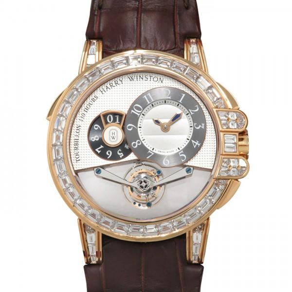ハリー・ウィンストン HARRY WINSTON オーシャン トゥールビヨン ビッグデイト 世界限5本 OCEMTD45RR003 シルバー/ブラック文字盤 メンズ 腕時計 【新品】