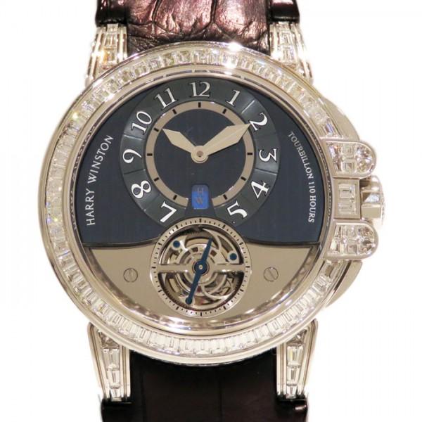 ハリー・ウィンストン HARRY WINSTON オーシャン トゥールビヨン ケースダイヤ 世界限定10本 400/MAT44WL グレー文字盤 メンズ 腕時計 【中古】