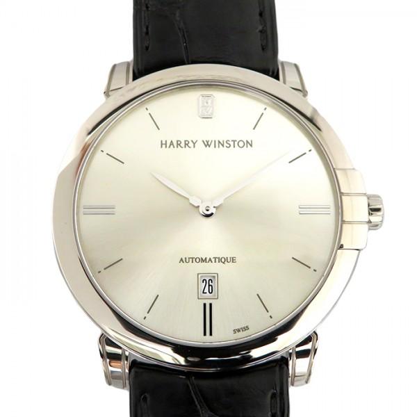 ハリー・ウィンストン HARRY WINSTON ミッドナイト 450/MA42WL.W シルバー文字盤 メンズ 腕時計 【新品】